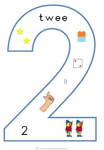 * Cijfersymbolen om in de klas te hangen | Beginnende gecijferdheid. 2-9
