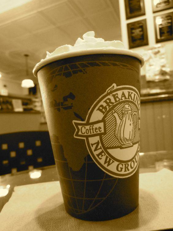 Breaking new grounds hot chocolate=love
