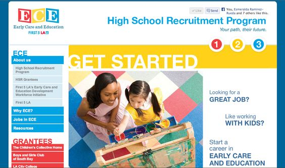 Time traveling to the year 2009...website for First 5 LA's ECE HSR program.