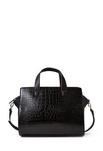 Faux Croc Trapeze Bag | FOREVER21 - 1000063388