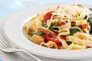 Spinach and Bacon Pasta Toss
