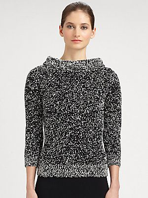 Michael Kors Bouclé Boatneck Sweater
