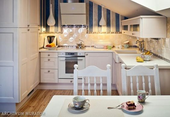 Aranzacja Kuchni Na Poddaszu Z Tapeta Home Cozy Kitchen Kitchen