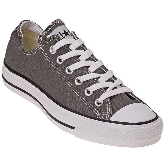 CONVERSE WOMEN'S Chuck Taylor All-Star Grey ($45) ❤ liked on Polyvore