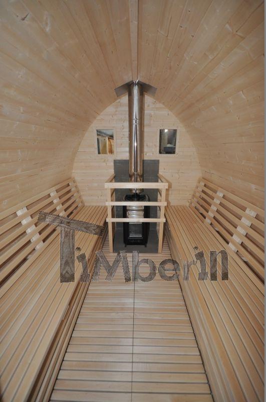 Iglu saunas ext rieur toit vert timberin sauna pinterest produits et - Hammam exterieur bois ...