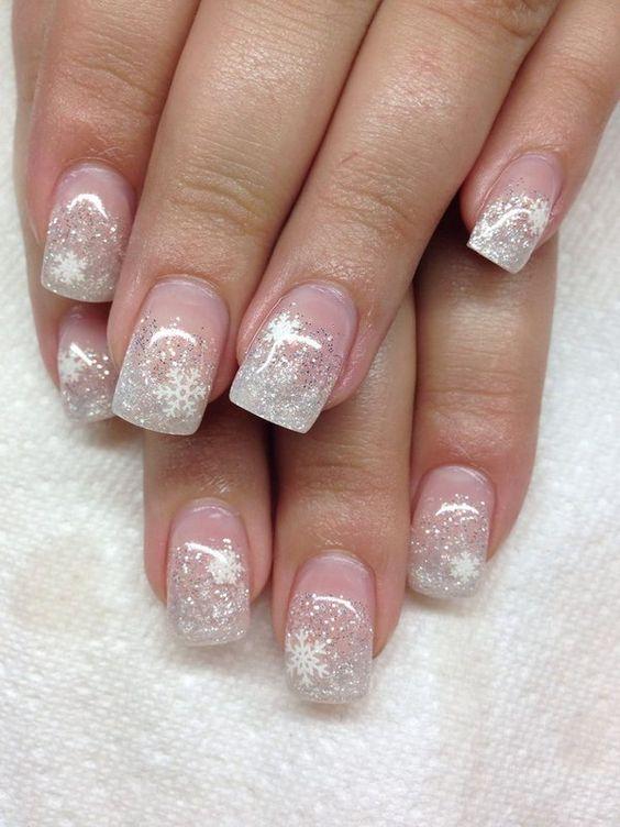 Winter Wonderland Gel Nails: