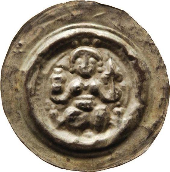 Brakteat Dietrich <Meißen, Markgraf> (1162-1221)|Münzherr Meissen, o.J. (1197-1221) Münzkabinett Material and Technique Silber, geprägt Measurement Durchmesser: 36,4 mm, Gewicht: 0,865 g
