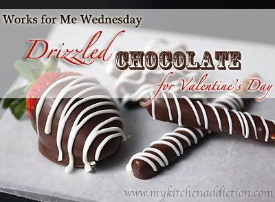How to Perfectly Drizzle Chocolate ... Duh, sometimes Pinterest makes me feel so stupid!!! LOL