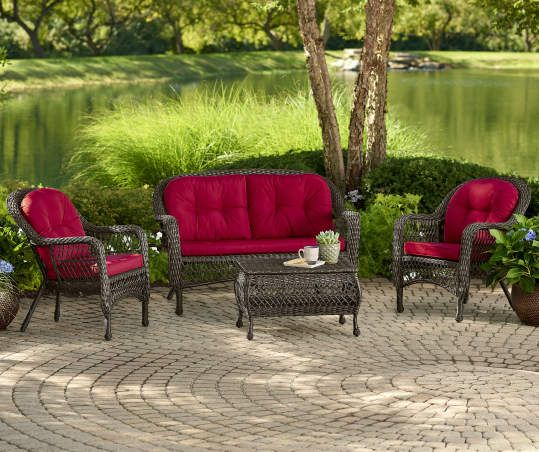 Wilson Fisher Westwood 7 Piece Replacement Cushion Sets Big Lots In 2020 Replacement Cushions Outdoor Replacement Cushions Patio Seating Sets