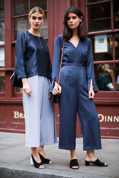 See London Fashion Week's best street style from the Spring 2017 season.