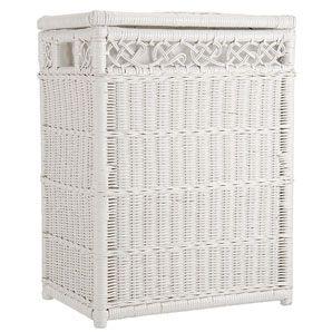 White wicker laundry basket google search ba os donde estan los ba os pinterest white - White wicker clothes hamper ...