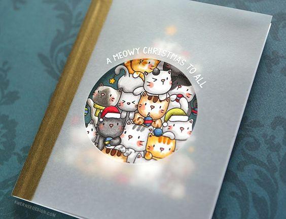 Vellum Window – Oh Kitty Tree! from Mama Elephant – kwernerdesign blog