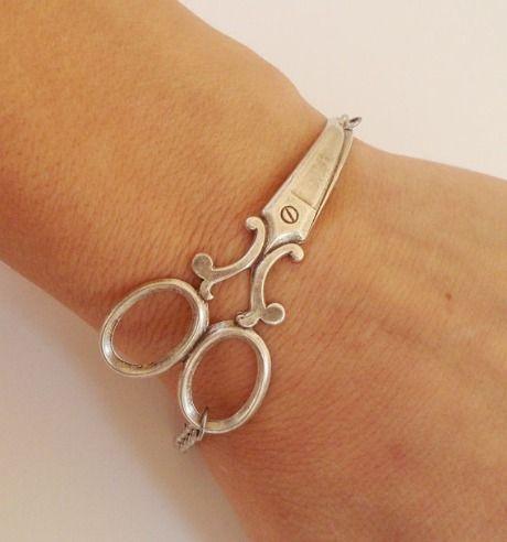 Bella Mantra Scissor Bracelet #outblush #etsy