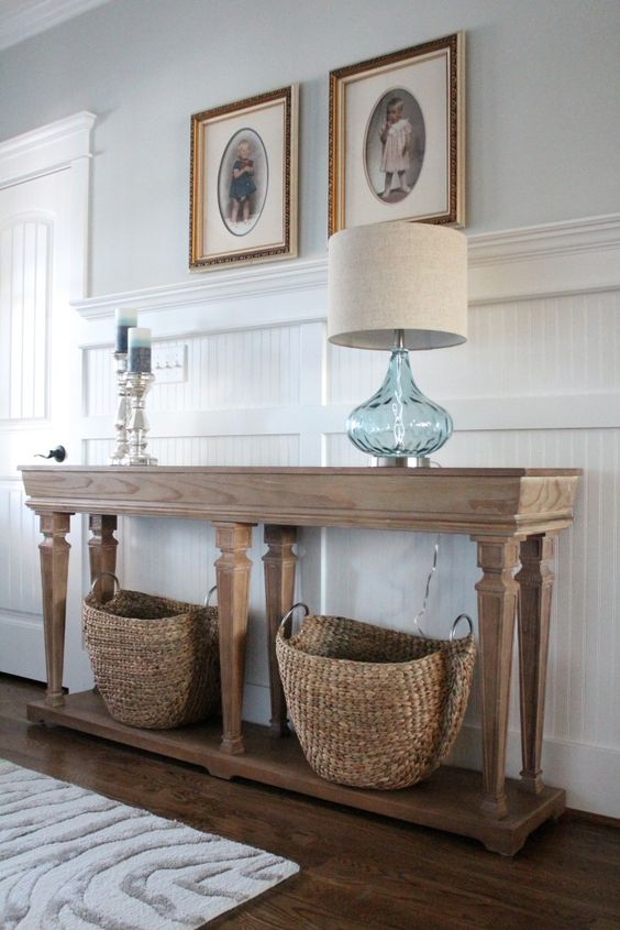 Get The Look: Coastal Console - Simple Stylings - How To Style a Table Beach Decor www.simplestylings.com: