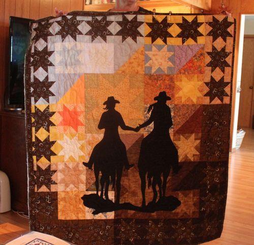 pretty western quilt