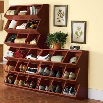 Entryway Storage Ideas | Entryway shoe storage