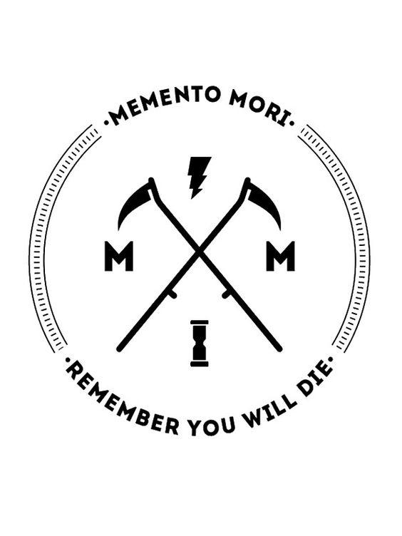 """""""Memento Mori"""" Stickers by Castropheonix   Redbubble"""