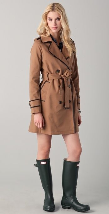 Club Monaco Micah Trench Coat thestylecure.com