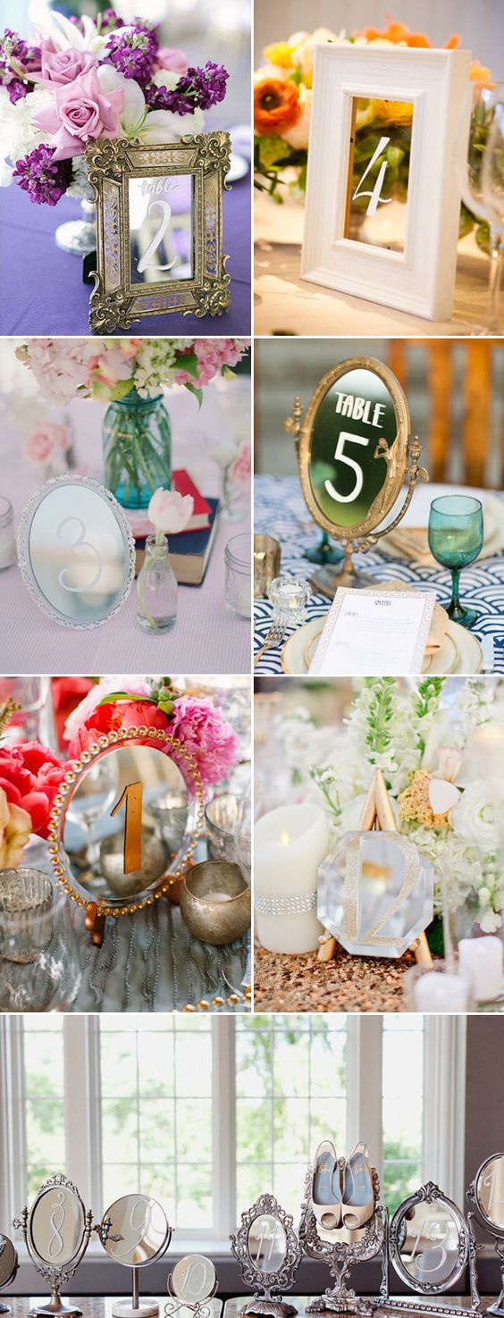 51 Creative DIY Wedding Table Number Ideas | http://www.deerpearlflowers.com/51-creative-diy-wedding-table-number-ideas/