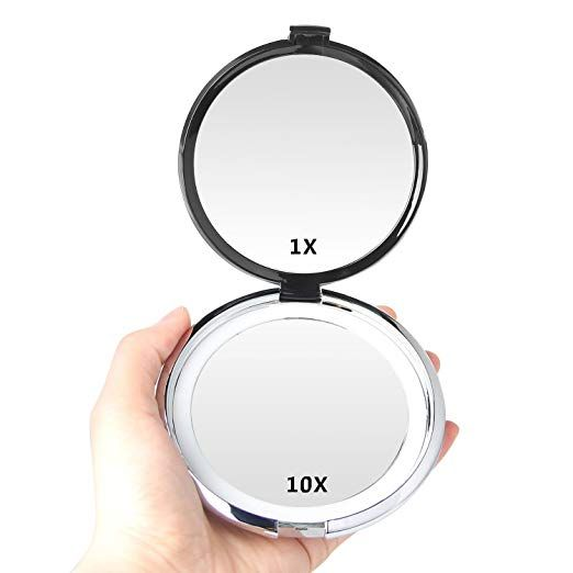 Compact Mirror E Yobe 1x 10x Lighted Magnifying Mirror 4 13 Inches Travel Makeup Mirror Daylight Led Co Travel Makeup Mirror Makeup Mirror Magnifying Mirror