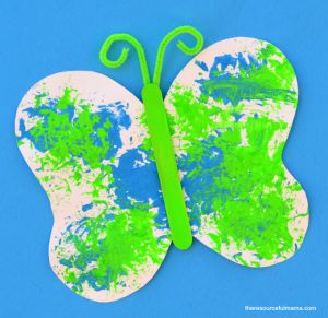 sponge painted butterfly craft for kids crafts kid and