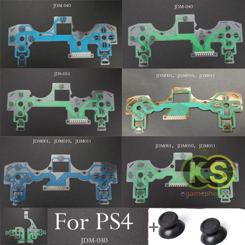 Original New Ps4 Controller Ribbon Circuit Board Film Pad Ps4 Slim Ps4 Pro Jdm001 Jdm010 Jdm011 Jdm 030 Jdm 040 Jds 055 Conduct Ps4 Controller Ps4 Pro Ps4 Slim