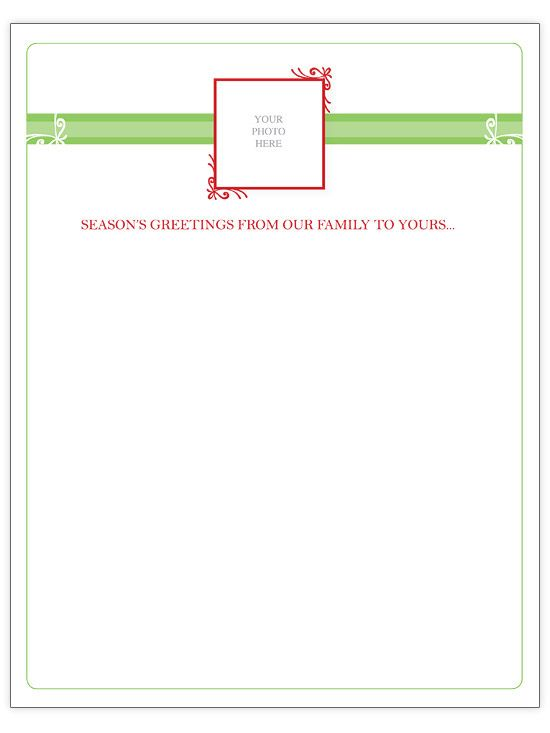 Free Christmas Letter Templates - christmas card letter templates