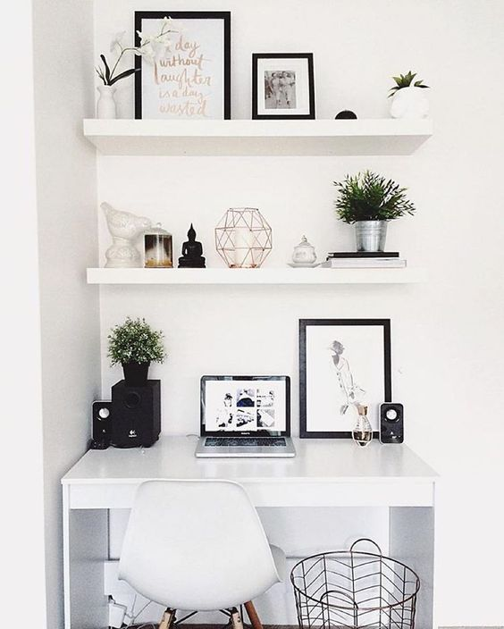 White #workspacegoals // via @workspacegoals on Instagram: