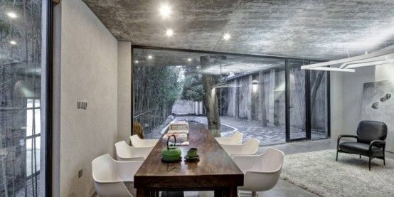 Exciting Architecture And Minimalist Interior Of Tea House | DigsDigs
