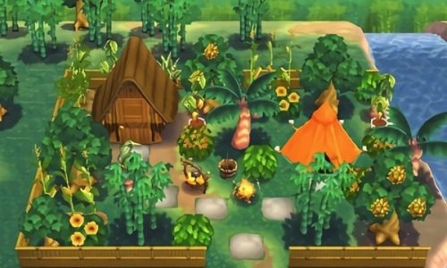 Jungle Wallpaper Animal Crossing New Horizons - Mural Wall on Animal Crossing New Horizons Living Room  id=34532