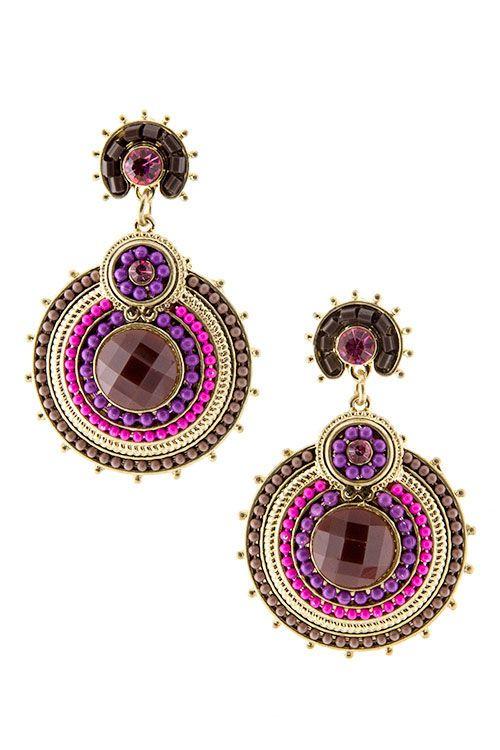 Beaded Boho Earrings   www.bsprinkled.com   www.facebook.com/bsprinkled