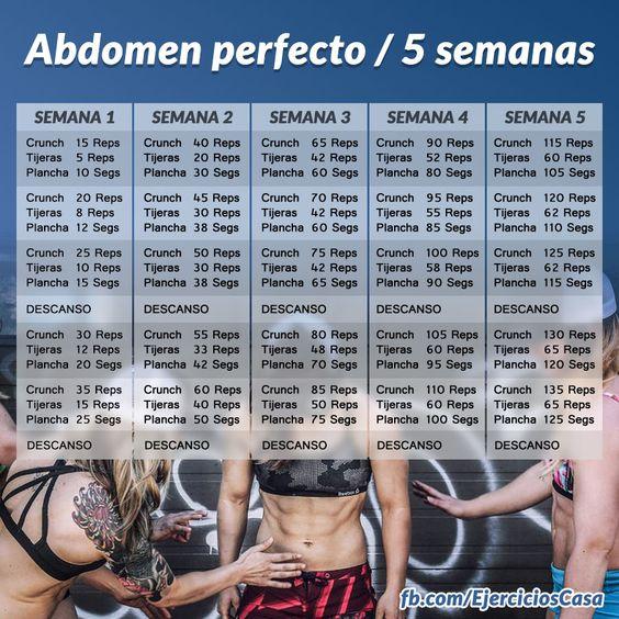 Atrévete con el reto para #abdominales perfectos en 5 semanas y consigue un #abdomen plano y #definido
