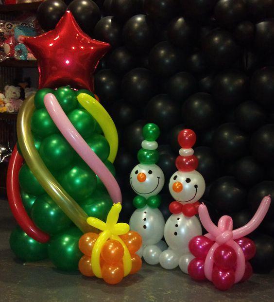 Decoraci n de navidad con globos navidad pinterest - Decoracion de adornos navidenos ...