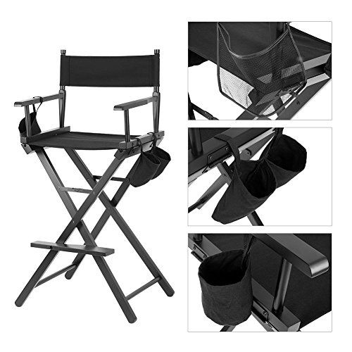 Artist Director Chair Folding Makeup Wood Chair With Side Bags Porte Bouteille Fauteuil Rangement