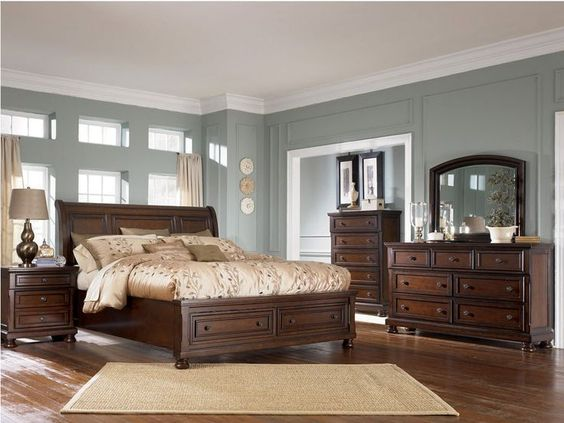 Bedroom Paint Ideas With Dark Furniture $2000 the furniture :: dark brown traditional style bedroom set