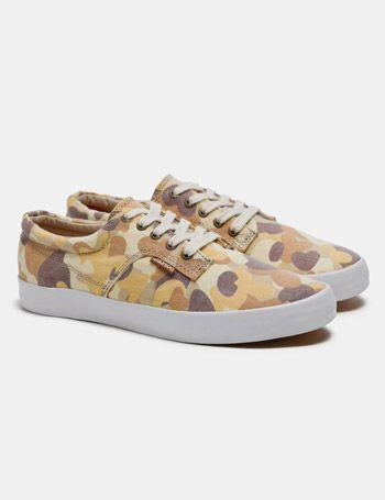 Pointer low top sneakers in desert camo. $70.00