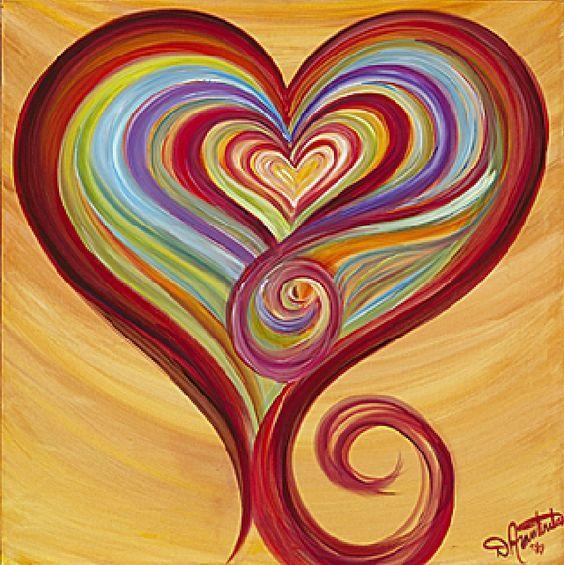 Resultado de imagem para heart painting