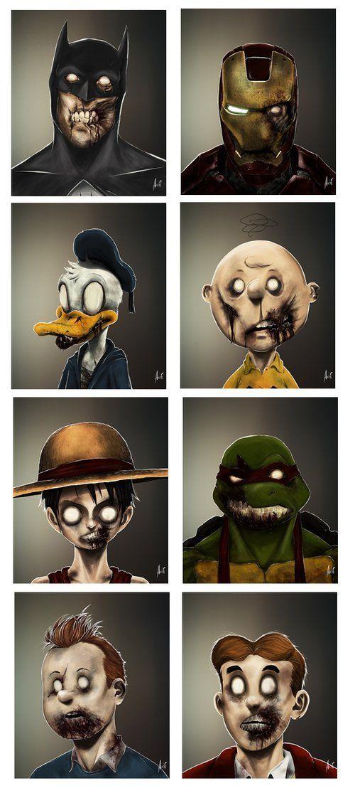 Cartoon Characters Zombies : Funny cartoon and zombie on pinterest