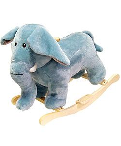 @Overstock - Give your little one a soft and soothing gift with this elephant, rocking stuffed animal. This plush elephant rocker is handmade with a wooden core, and features sturdy wood rockers that can hold up to 80 pounds and children aged two and older.http://www.overstock.com/Sports-Toys/Plush-Elephant-Rocking-Animal/2521961/product.html?CID=214117 $64.99