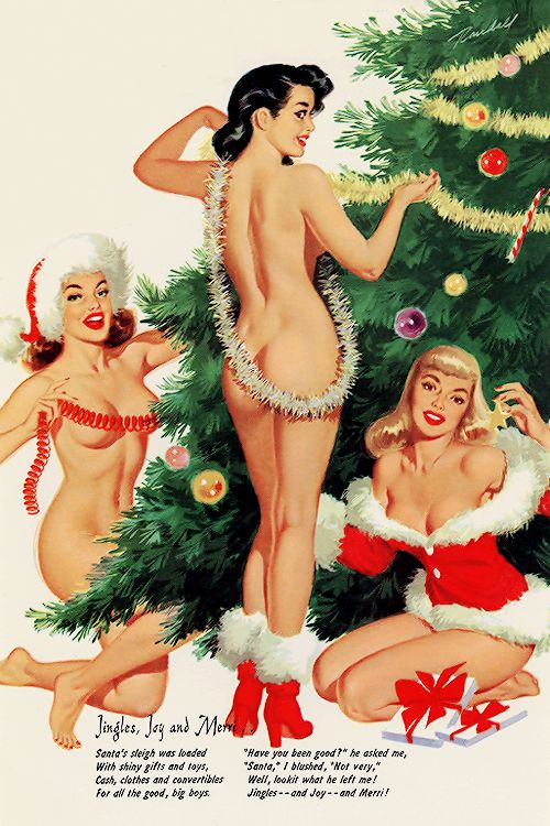 "Bill Randall Christmas Pin-up ~ ""Jingles, Joy and Merri"":"