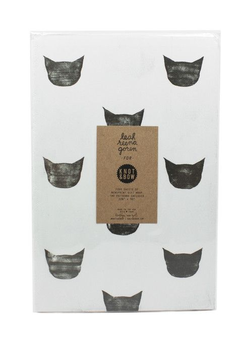 Cat gift wrap paper $6