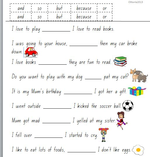 Printables Kindergarten Grammar Worksheets grammar worksheets conjunctions 3 english flashcards pinterest kindergarten and change 3