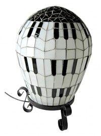 Ballonlamp Pianotoetsen Mozaiek / BL-M-HA