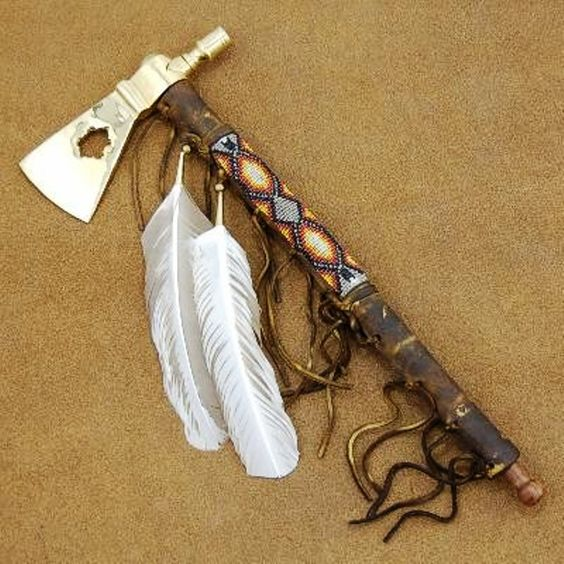 Native American Smokable Ceremonial Peace Pipe Iroquois Brass Peace Pipe Tomahawk Indian Artifact http://www.nativeamericanstuff.net/Native%20American%20Handcrafted%20Smokable%20Peace%20Pipes.htm