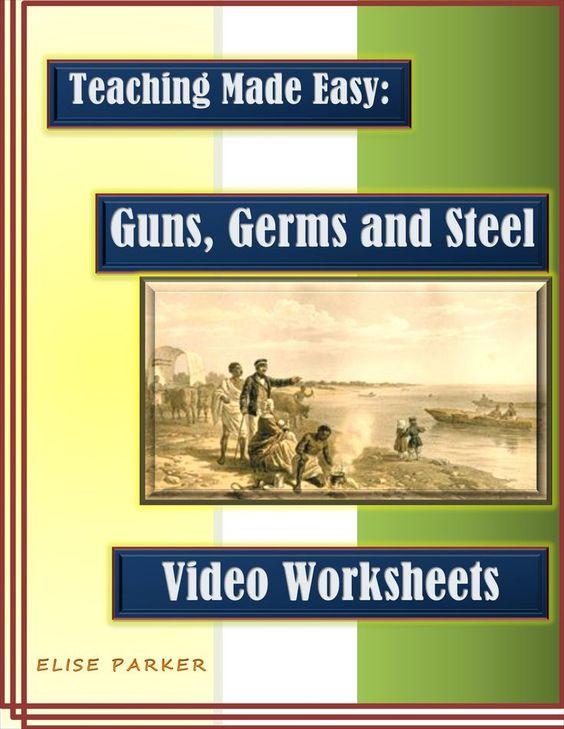 guns germs and steel video worksheets pdf printable version steel economics and student. Black Bedroom Furniture Sets. Home Design Ideas