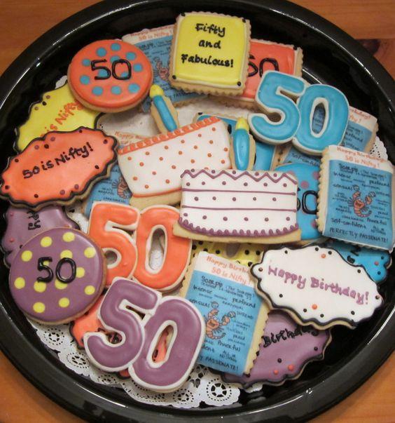 50th Birthday, Birthday Cookies And Birthdays On Pinterest