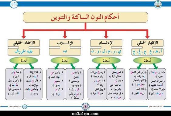 ب احكام النون الساكنة والتنوين علم التجويد Learn Quran Arabic Alphabet For Kids Learning Arabic