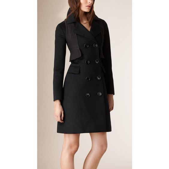 Burberry Tailored Cashmere Coat (47792570 BYR) ❤ liked on Polyvore featuring outerwear, coats, a-line coat, burberry coat, tailored coat, burberry and cashmere coat