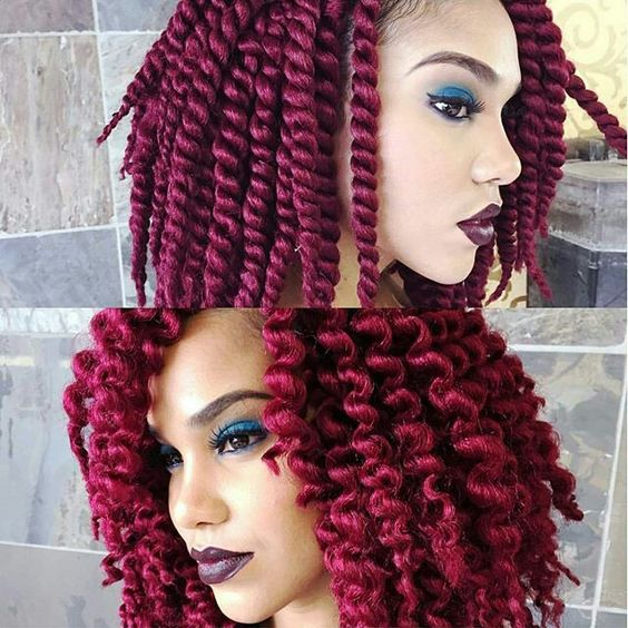 Crochet Red Hairstyles : hair crochet braids haircolor cute hairstyles kinky hair hairstyles ...