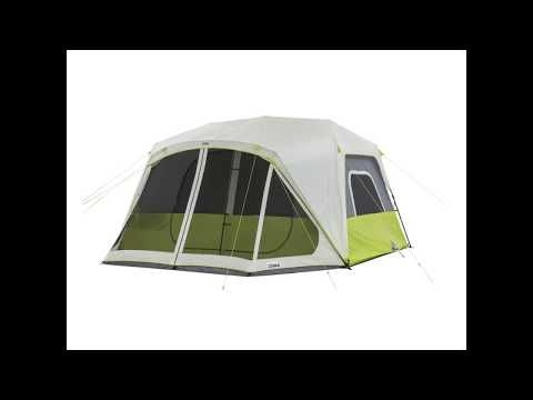 The Core 10 Person Instant Cabin Tent Features Stress Free Setup In Two Minutes The Poles Are Pre Attached To The Tent Just Unpack Unf Tent Cabin Tent Cabin